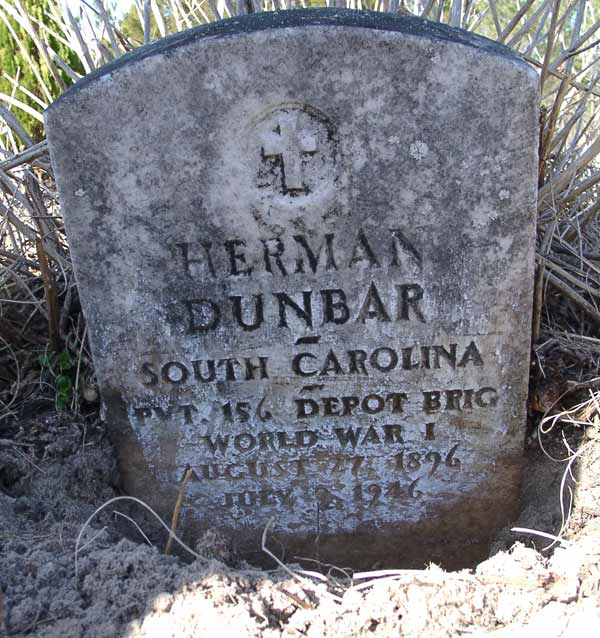 Herman Dunbar Gravestone Photo