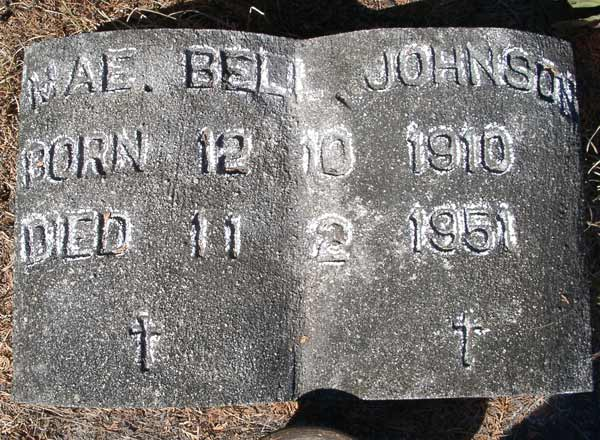 Mae Bell Johnson Gravestone Photo