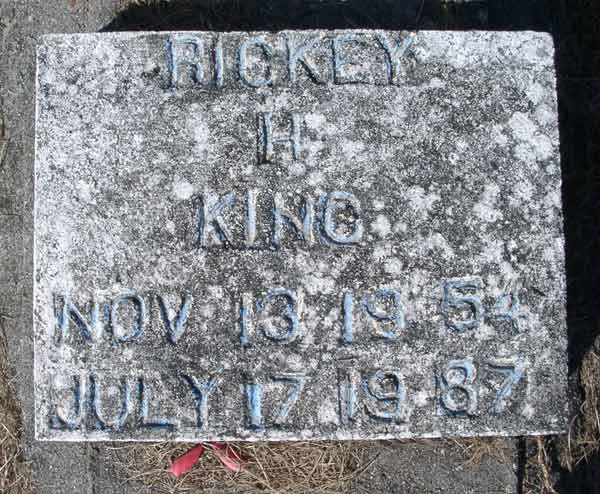 Rickey H. King Gravestone Photo
