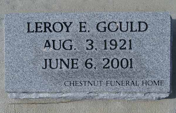 Leroy E. Gould Gravestone Photo