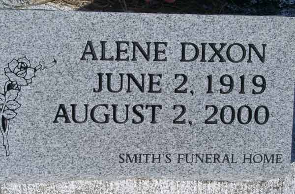 Alene Dixon Gravestone Photo