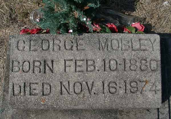 George Mobley Gravestone Photo