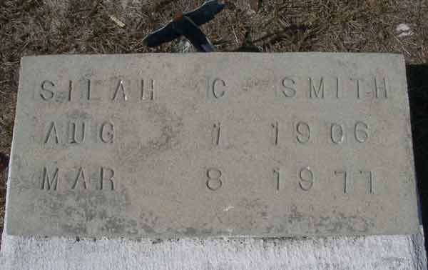 Silah C. Smith Gravestone Photo