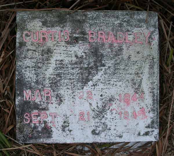 Curtis Bradley Gravestone Photo