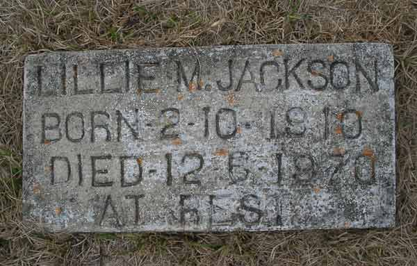 Lillie M. Jackson Gravestone Photo