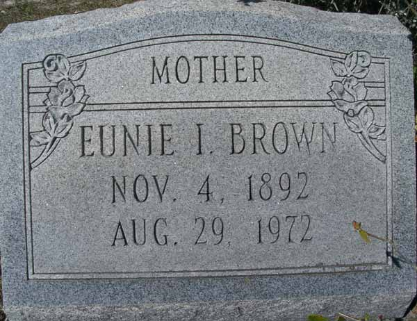 Eunie I. Brown Gravestone Photo