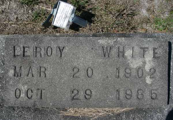 Leroy White Gravestone Photo