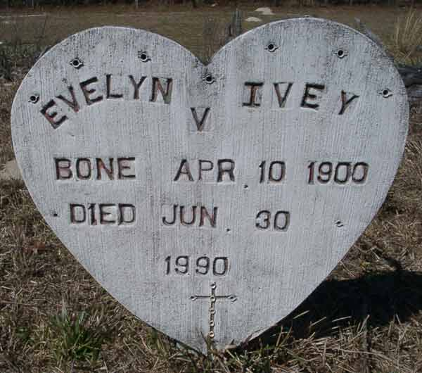 Evelyn V. Ivey Gravestone Photo